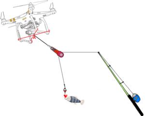 drone per pescare